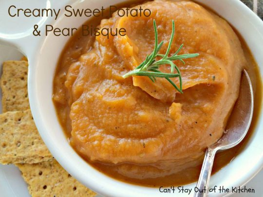 Creamy Sweet Potato and Pear Bisque - IMG_3019