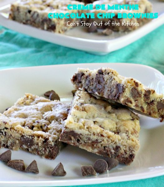 Creme De Menthe Chocolate Chip Brownies Can T Stay Out