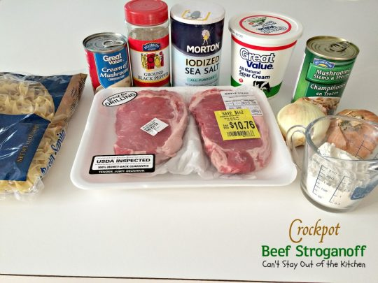 Crockpot Beef Stroganoff | Can't Stay Out of the Kitchen | the BEST and easiest #beef #stroganoff recipe ever! We make this entree all the time served over #noodles. #slowcooker