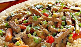 Crockpot Beef Tips and Veggies Over Rice