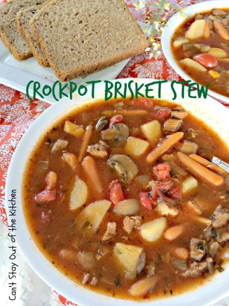 Crockpot Brisket Stew | Can't Stay Out of the Kitchen