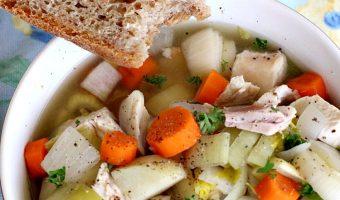 Crockpot Cock-a-Leekie Soup