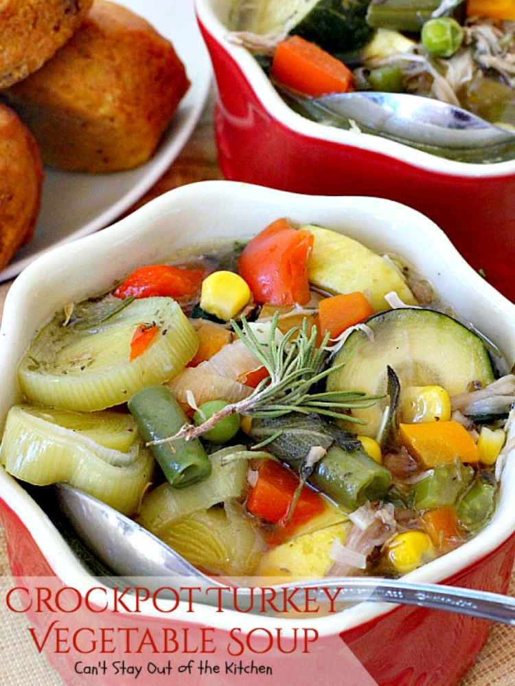 Crockpot Turkey Vegetable Soup Can T Stay Out Of The Kitchen Healthy