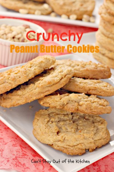 Crunchy Peanut Butter Cookies - IMG_1179