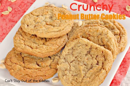 Crunchy Peanut Butter Cookies - IMG_1184