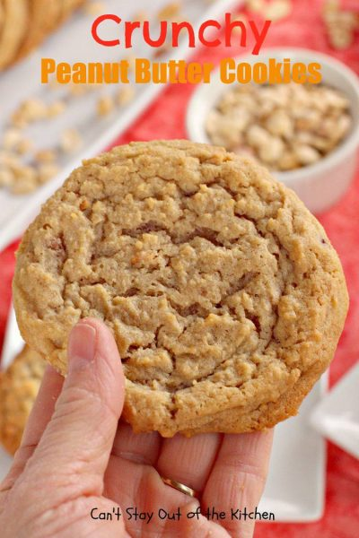 Crunchy Peanut Butter Cookies - IMG_1218