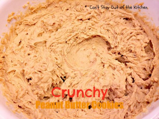 Crunchy Peanut Butter Cookies - IMG_5572