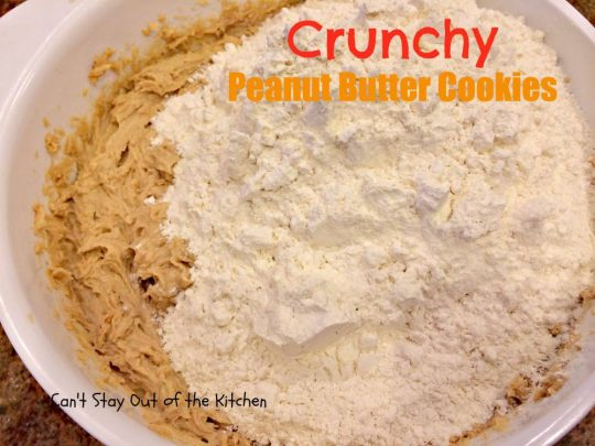 Crunchy Peanut Butter Cookies - IMG_5573