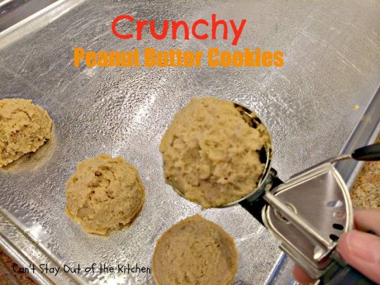Crunchy Peanut Butter Cookies - IMG_5575