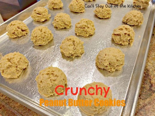 Crunchy Peanut Butter Cookies - IMG_5576