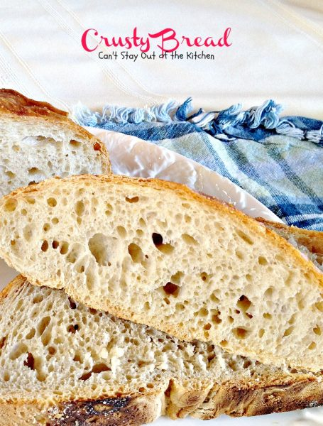 Crusty Bread | Can't Stay Out of the Kitchen | the easiest No-Knead #bread around! 4-ingredients. Great #artisanbread. #vegan