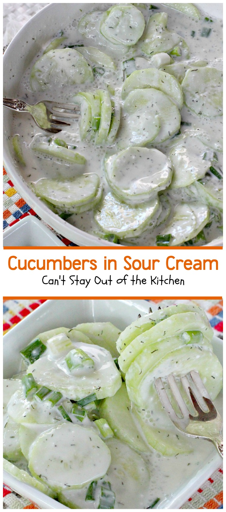 Cucumbers in Sour Cream | Can't Stay Out of the Kitchen | quick and ...