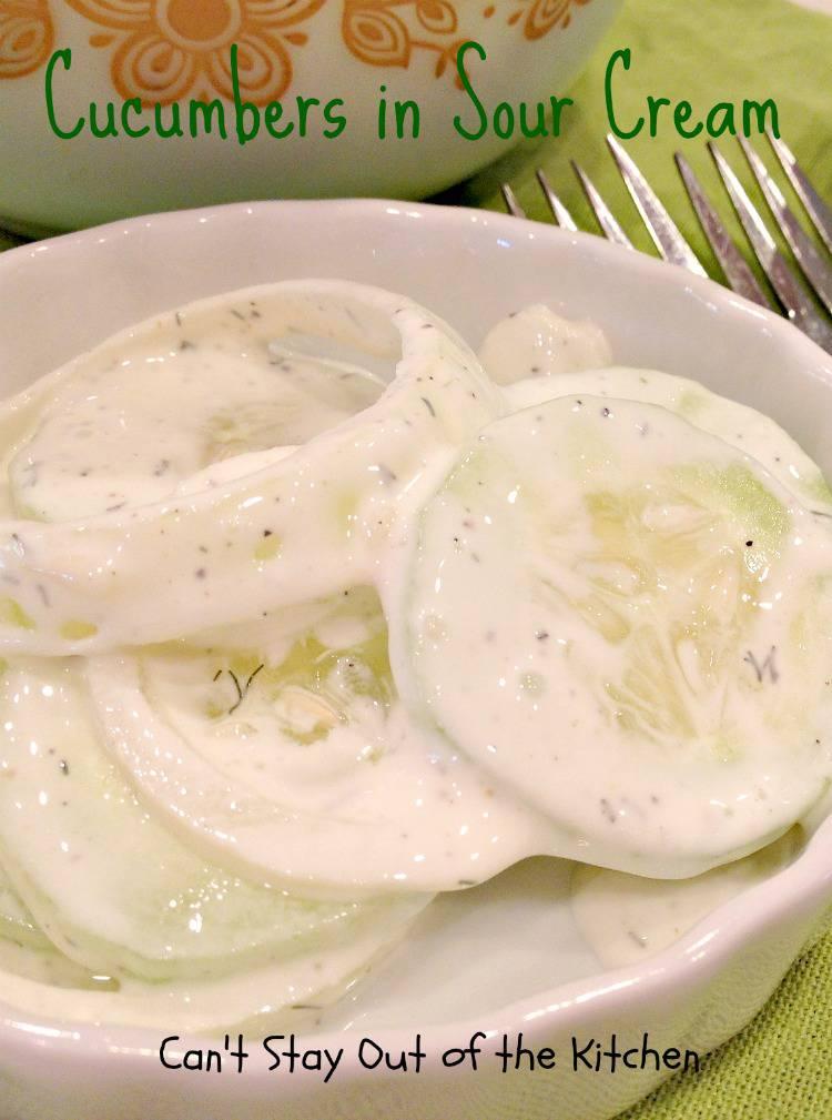 ... dreamy sour cream sauce. It's superb. Cucumbers in Sour Cream
