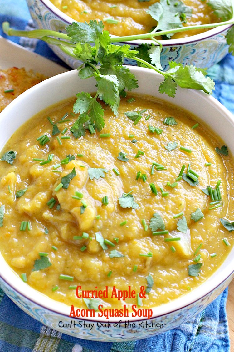 ... increase the wonderful flavors of Curried Apple and Acorn Squash Soup