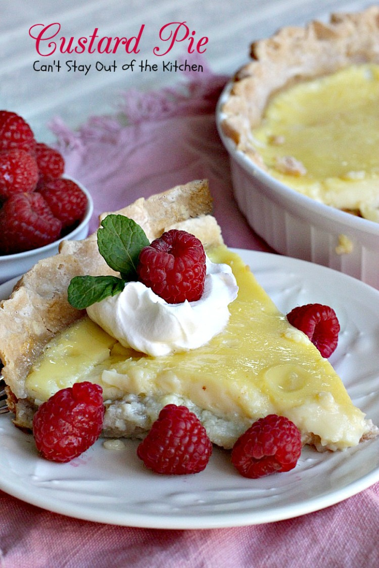 Custard Pie | Can't Stay Out of the Kitchen