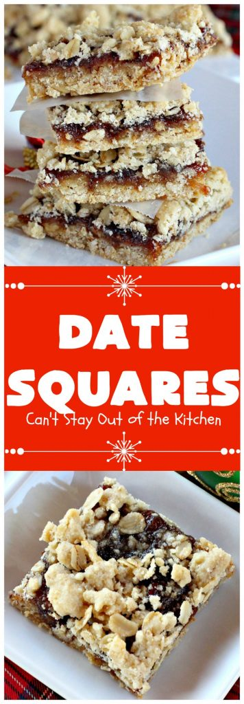 Date Squares | Can't Stay Out of the Kitchen