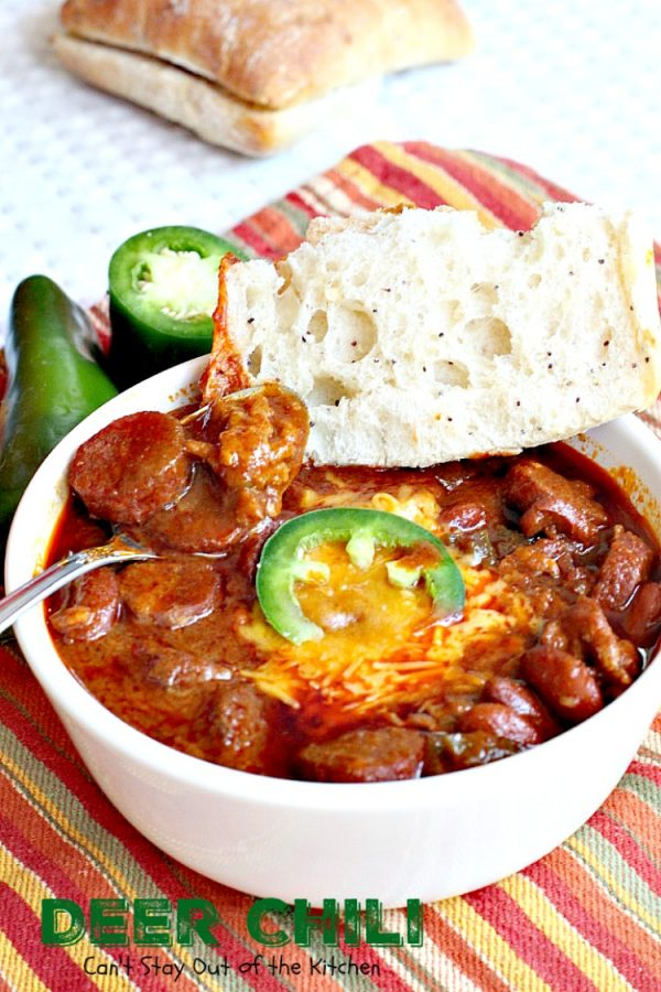 Deer Chili | Can't Stay Out of the Kitchen