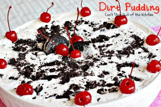 Dirt Pudding | Can't Stay Out of the Kitchen | this spectacular #icecream #dessert is made with only 3 ingredients. It's so easy and great to make for the #holidays. #Oreos