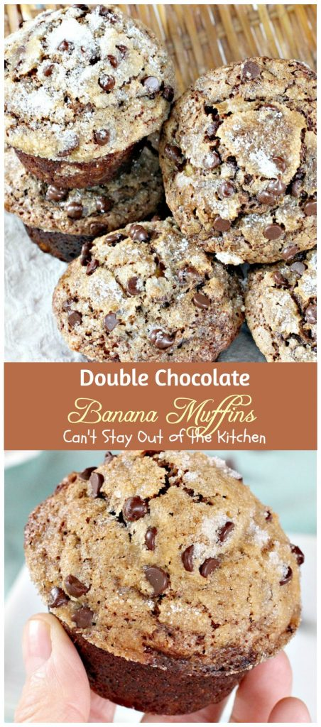 Double Chocolate Banana Muffins | Can't Stay Out of the Kitchen