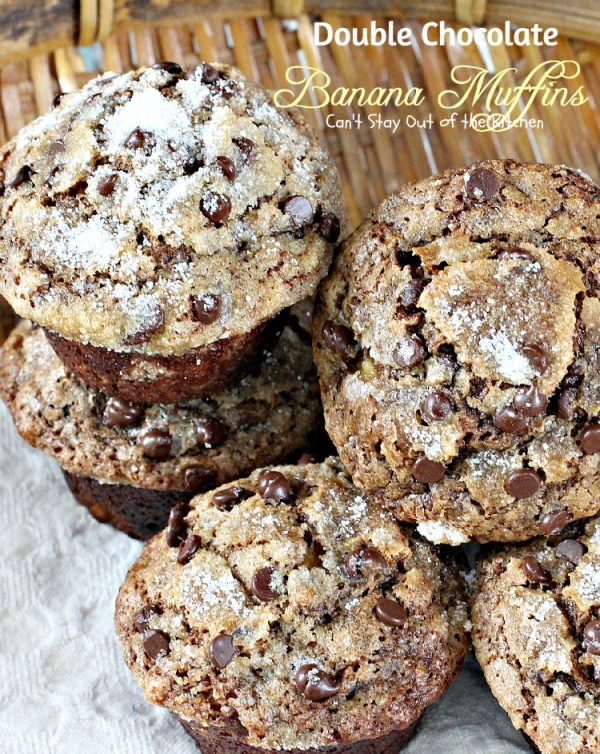Double Chocolate Banana Muffins   Can't Stay Out of the Kitchen