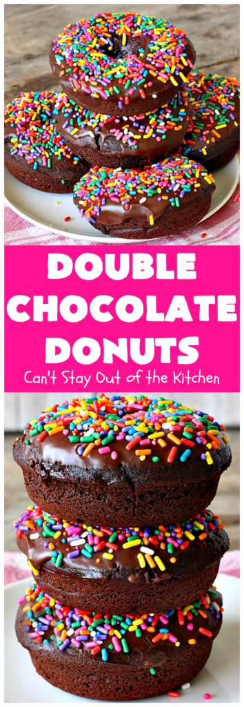 Double Chocolate Donuts | Can't Stay Out of the Kitchen