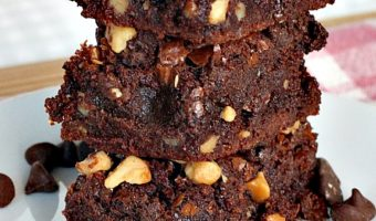 Double Chocolate Macadamia Brownies