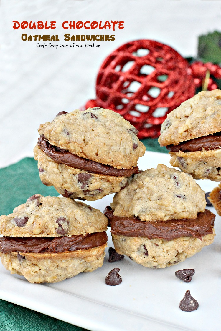 Double Chocolate Oatmeal Sandwiches