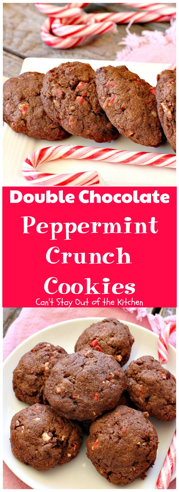 Double Chocolate Peppermint Crunch Cookies are great cookies for ...
