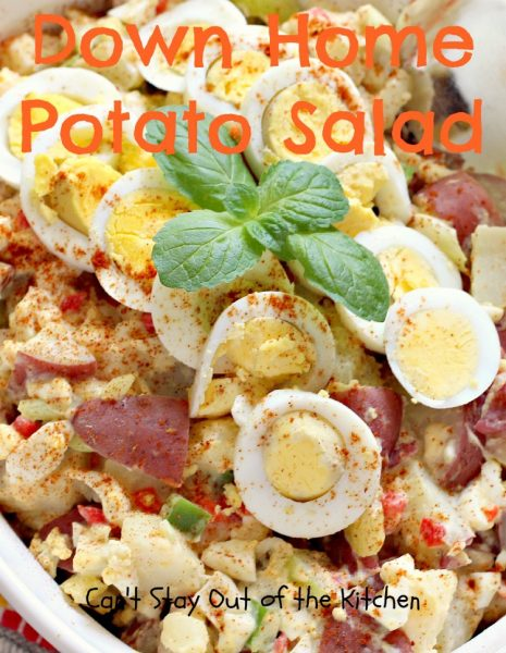 Down Home Potato Salad | Can't Stay Out of the Kitchen