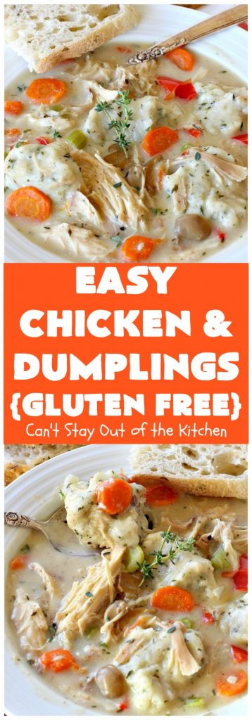 Easy Chicken and Dumplings (Gluten Free) | Can't Stay Out of the Kitchen