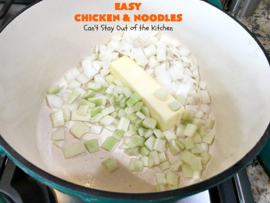 Easy Chicken and Noodles | Can't Stay Out of the Kitchen | This amazing #ChickenAndNoodles #recipe is irresistible & mouthwatering comfort food. Can be made for weeknight dinners in less than 30 minutes! #chicken #noodles #soup #EasyChickenAndNoodles
