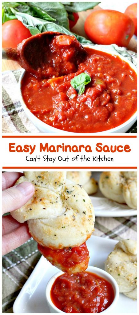 Easy Marinara Sauce | Can't Stay Out of the Kitchen | the most delicious homemade #marinarasauce. So quick and easy to make. Great with #pasta or #garlicbread. #Italian