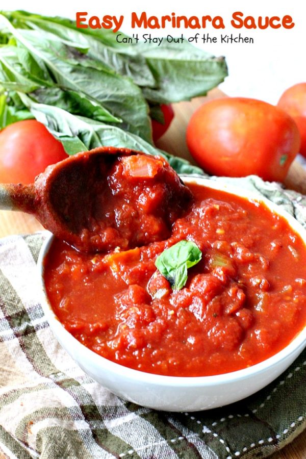 Easy Marinara Sauce   Can't Stay Out of the Kitchen