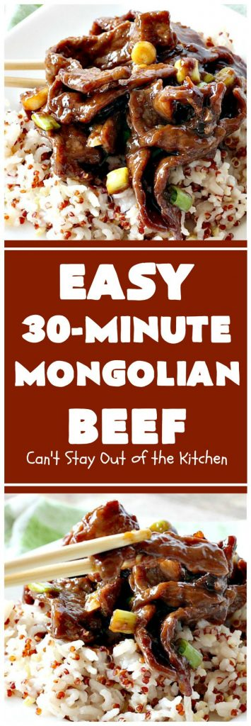 Easy Mongolian Beef | Can't Stay Out of the Kitchen