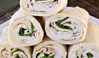 Easy Turkey and Cheese Tortilla Roll Ups