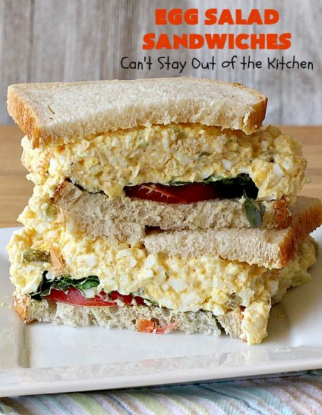 Egg Salad Sandwiches | Can't Stay Out of the Kitchen | this is our favorite #EggSalad #recipe. Anytime we have a lot of #eggs on hand, these #sandwiches are on the menu! We love this easy & delicious recipe. #EggSaladSandwiches #FavoriteEggSaladSandwiches #BestEggSaladSandwiches
