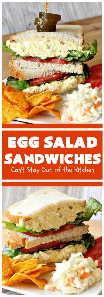 Egg Salad Sandwiches | Can't Stay Out of the Kitchen