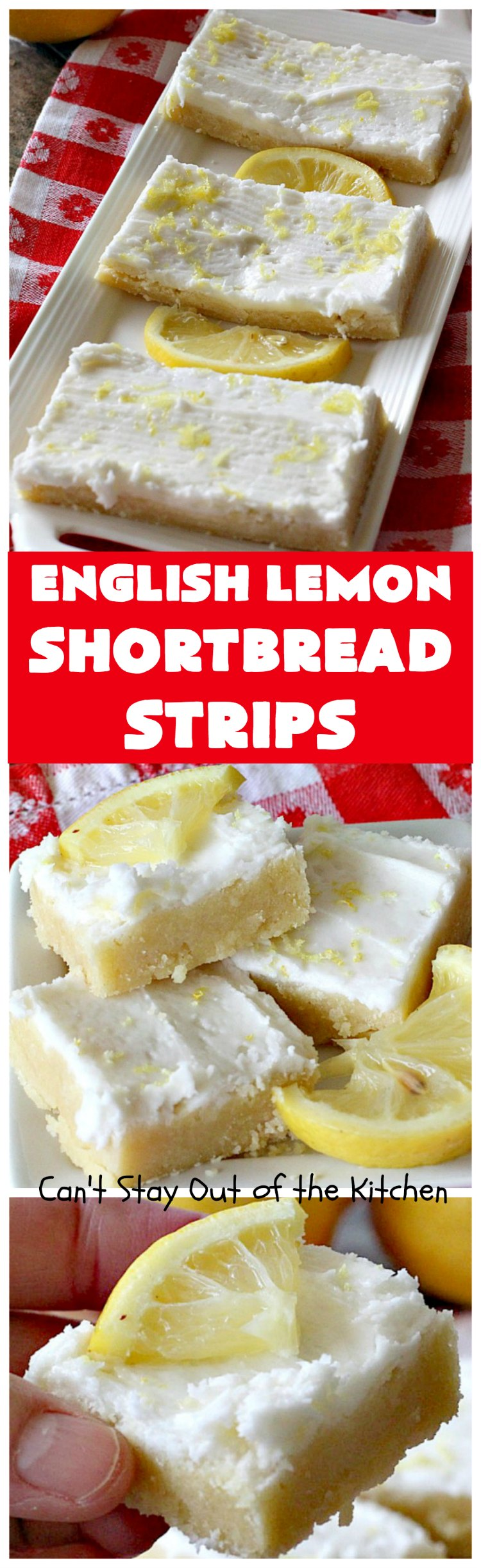 English Lemon Shortbread Strips   Can't Stay Out of the Kitchen