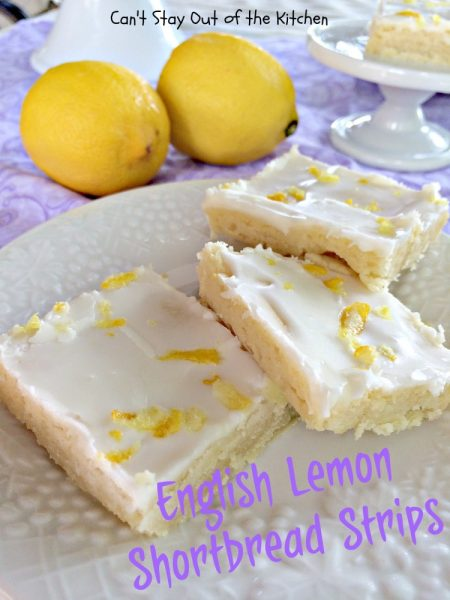 English Lemon Shortbread Strips | Can't Stay Out of the Kitchen