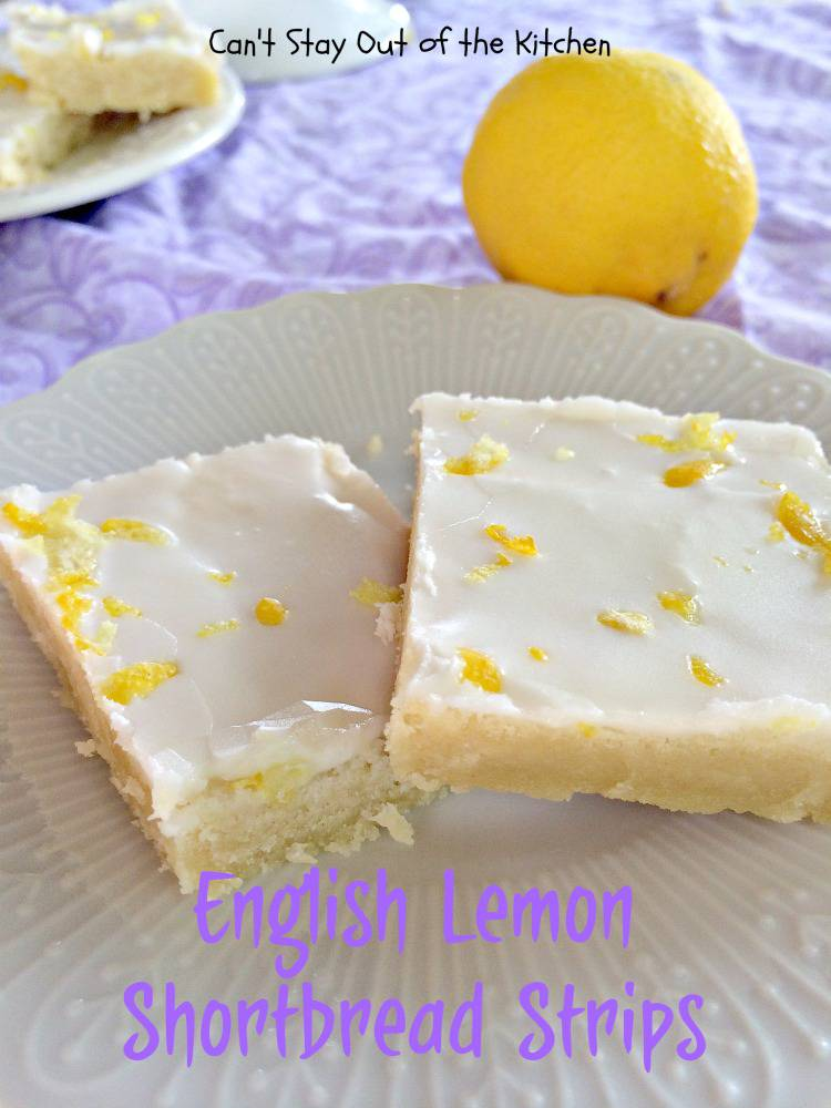 English Lemon Shortbread Strips Can T Stay Out Of The