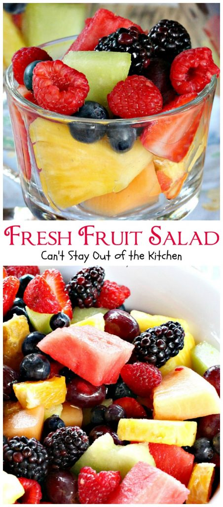 Fresh Fruit Salad | Can't Stay Out of the Kitchen