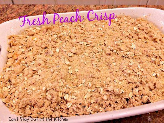 Fresh Peach Crisp - IMG_8327