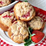 Fresh Strawberry Muffins | Can't Stay Out of the Kitchen