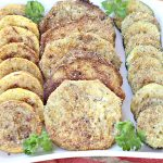 Fried Eggplant, Yellow Squash or Zucchini | Can't Stay Out of the Kitchen | I LOVE this amazing #sidedish. I could sit down and eat plates of it at once! #glutenfree #eggplant #zucchini #yellowsquash