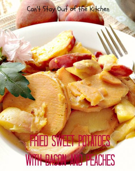 Fried Sweet Potatoes with Bacon and Peaches - IMG_0006