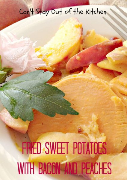 Fried Sweet Potatoes with Bacon and Peaches - IMG_0011