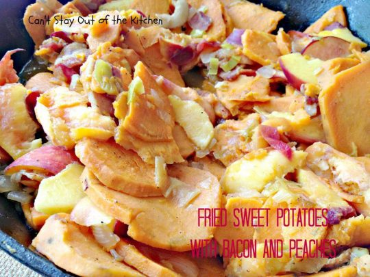 Fried Sweet Potatoes with Bacon and Peaches - IMG_0013