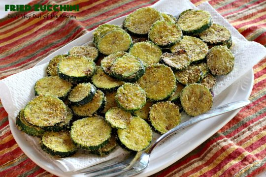 Fried Zucchini | Can't Stay Out of the Kitchen | this is the most delicious way to serve #zucchini. It's quick & easy & absolutely mouthwatering. #GlutenFree #SideDish #FriedZucchini #GlutenFreeSideDish #Southern #cornmeal #SouthernSideDish