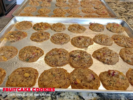 Fruitcake Cookies | Can't Stay Out of the Kitchen | we couldn't believe how fantastic these #Christmas #cookies were. They're great for #holiday baking. #cherries #apricots #fruitcake #dessert
