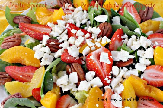 Fruity Spinach Salad with Peachy Balsamic Vinaigrette - IMG_1836